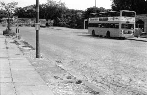 Das Ende der Schlesischen Straße vor 1989